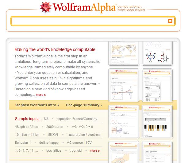 Wolfram|Alpha: The best thing since... well, anything.