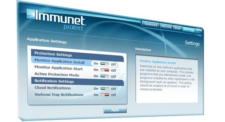 immunet_settings